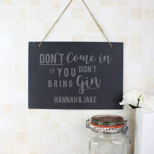 personalised gin sign slate 2