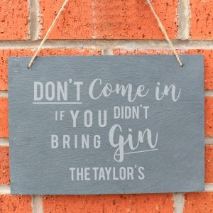 personalised gin sign slate 3