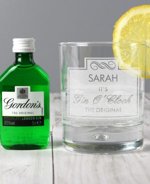 Personalised Gin OClock Glass 1