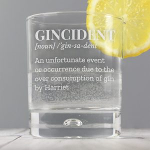 Gincident personalised gin glass 1