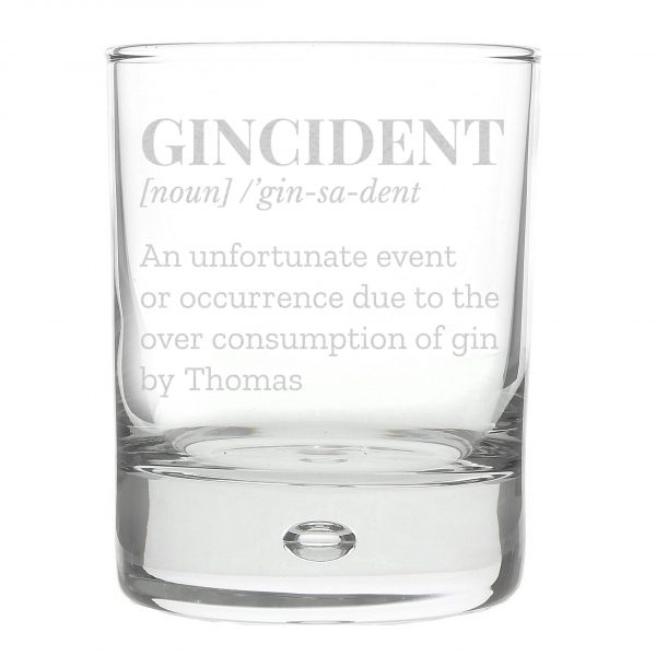 Gincident personalised gin glass 6