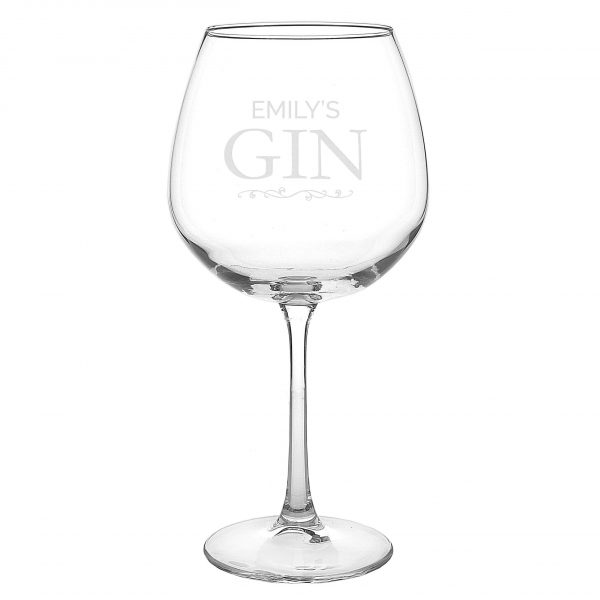 personalised gin glass - add name 4