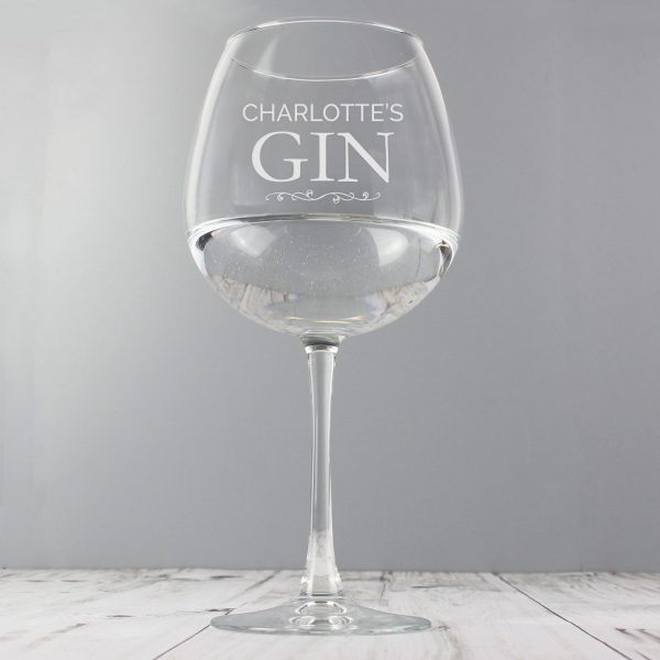 personalised gin glass - add name 2