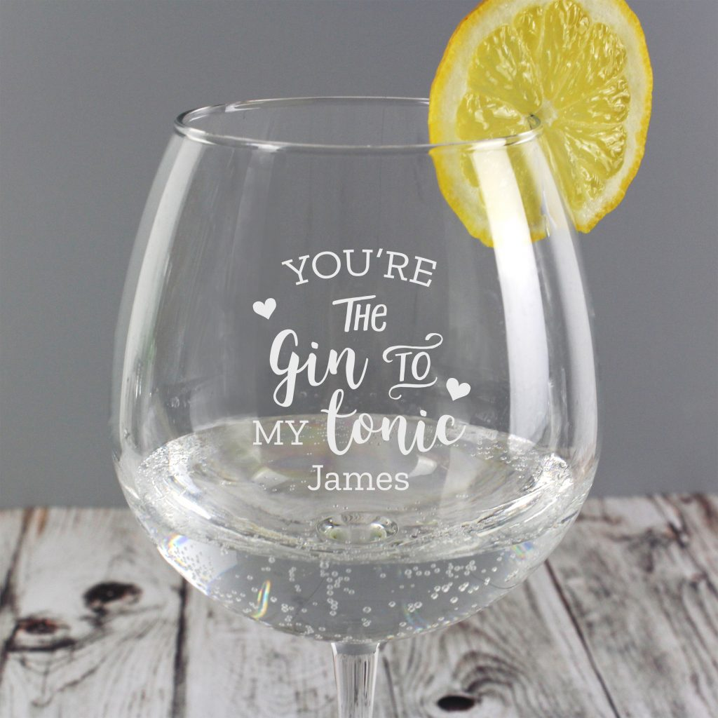personalised gin glass - gin to my tonic 3