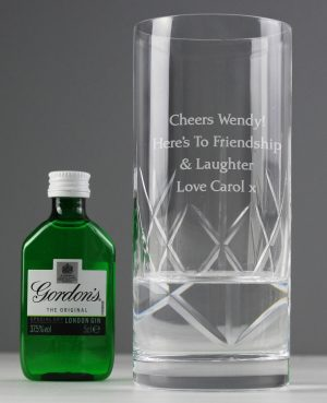 Personalised Cut Crystal Glass 1