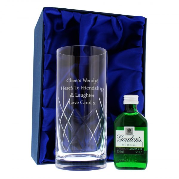 Personalised Cut Crystal Glass 6