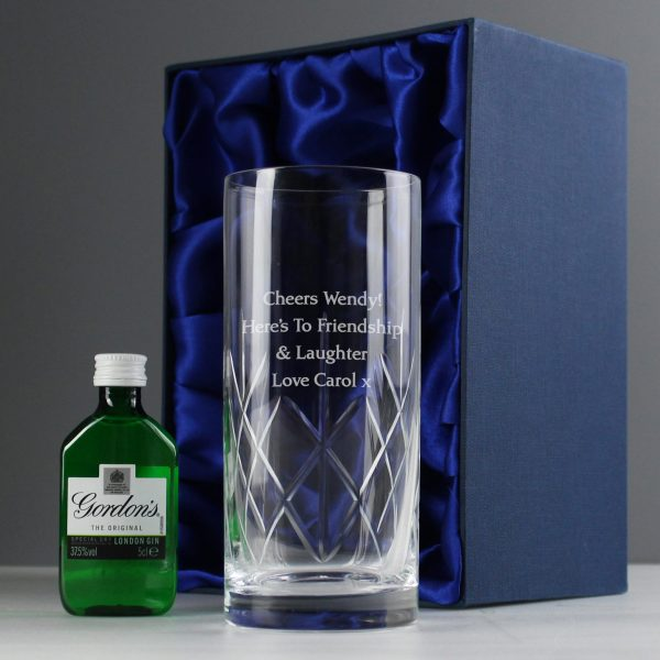 Personalised Cut Crystal Glass 3