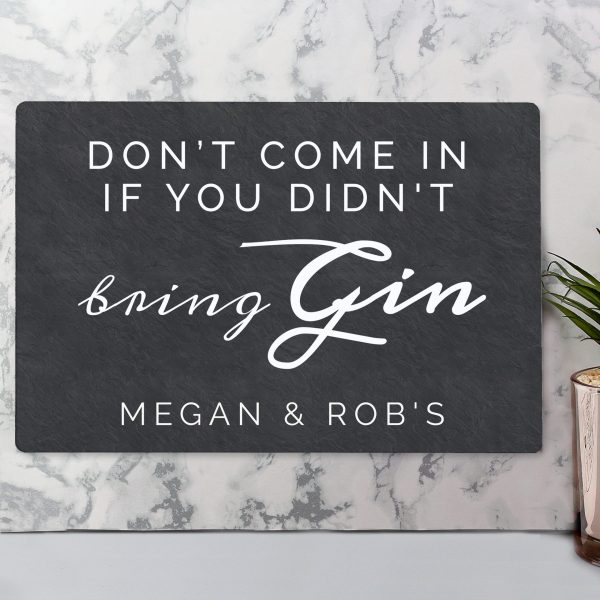 personalised gin sign - didn't bring gin 2