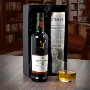 Personalised 12 Year Old Glenfiddich Whisky Bottle & Newspaper 5