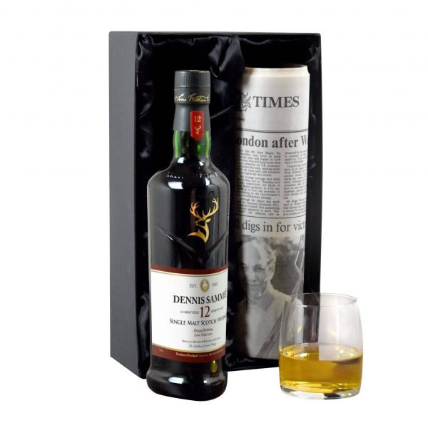 Personalised 12 Year Old Glenfiddich Whisky Bottle & Newspaper 3