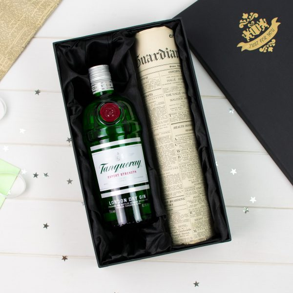 Tanqueray Gin Newspaper gift set 5