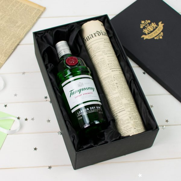 Tanqueray Gin Newspaper gift set 4