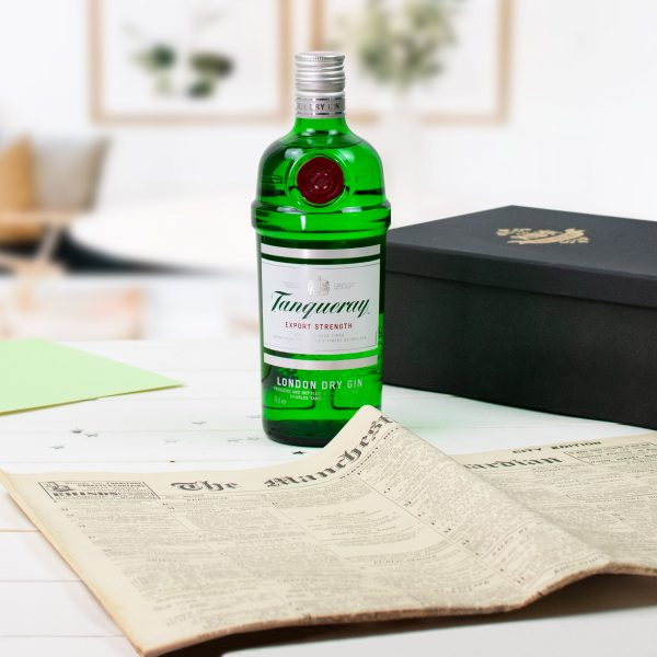 Tanqueray Gin Newspaper gift set 3