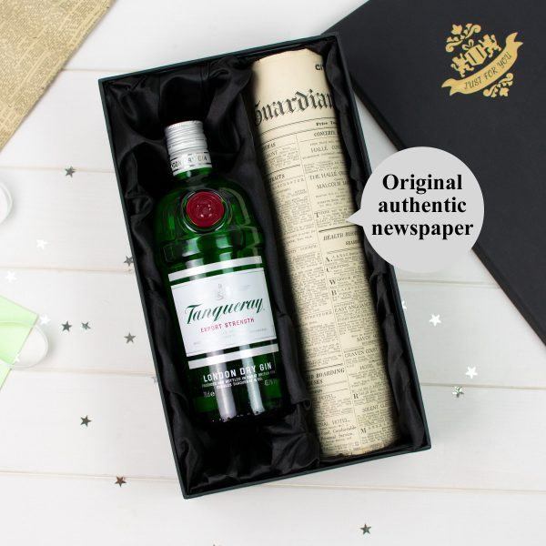 Tanqueray Gin Newspaper gift set 1