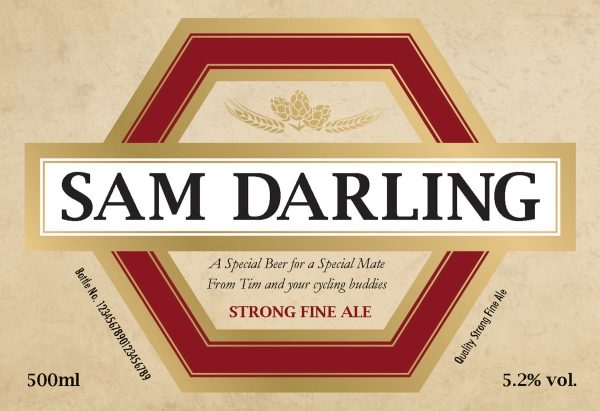Personalised Traditional Label Beer 1