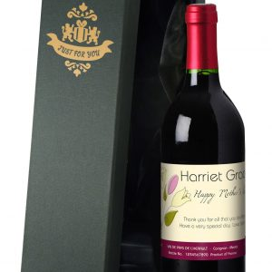 Personalised Mother's Day Bouquet Red Wine 4