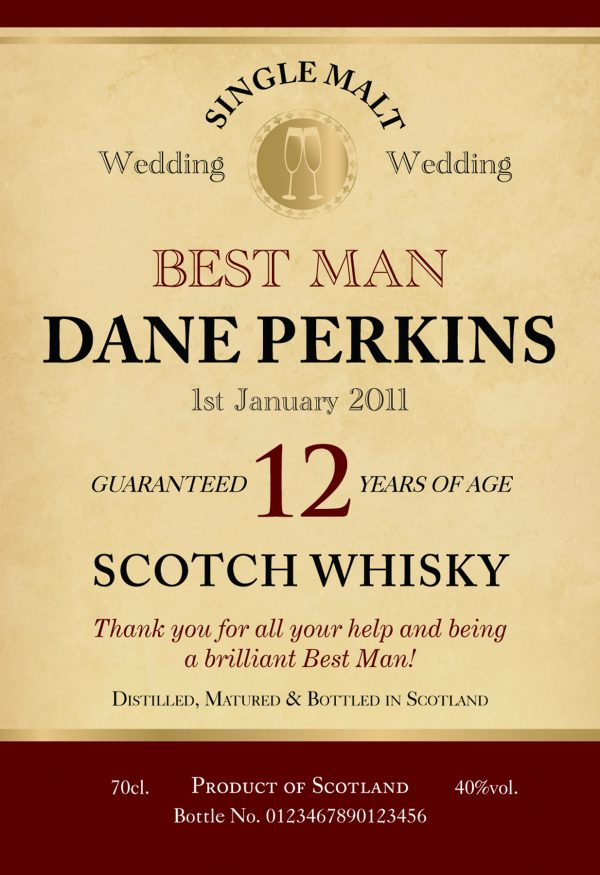 Wedding Role 12 Year Old Malt Whisky 1