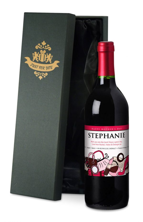Personalised Mother's Day Accessories Red Wine 2