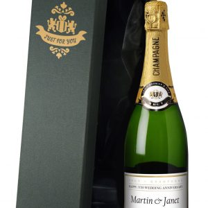 Personalised Anniversary Champagne Bottle 2
