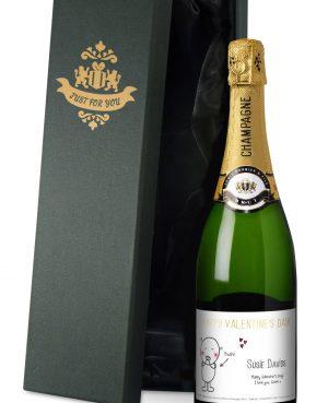 Personalised Chilli & Bubbles Valentine's Day Champagne 2