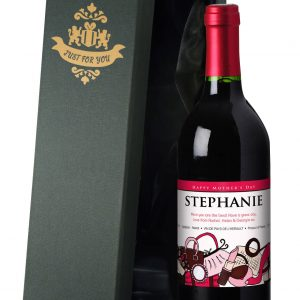 Personalised Mother's Day Accessories Red Wine 4