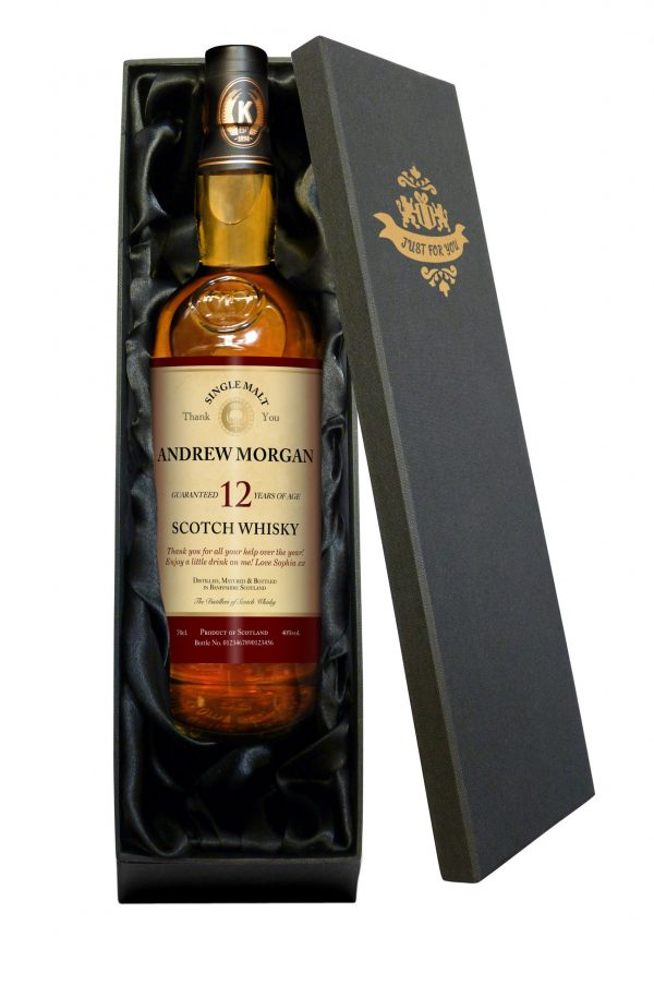 Personalised Thank You 12 Year Old Malt Whisky 3