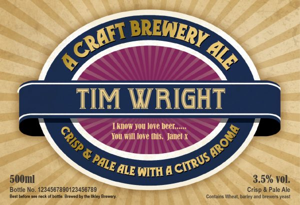 Personalised Contemporary Label Craft Beer 1