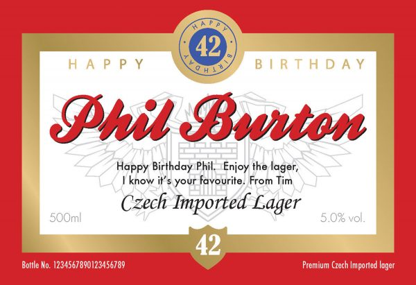 Personalised Birthday Czech Lager 1