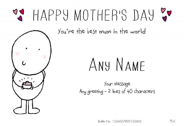Personalised Chilli & Bubbles Mother's Day Red Wine 1